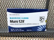 NEW Bausch & Lomb Muro 128 5% Ointment 1/8 oz 3.5g Exp JANUARY 2022 Twin Pack