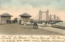 1904 - the pier sea view (isle of wight ) great view with horse & cart