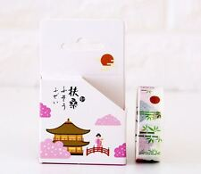 Nuevo estilo tradicional japonés Kawaii Washi Cinta De Enmascarar Arte X 2