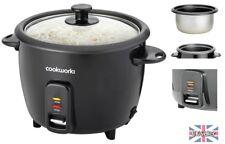 Nouveau Cookworks 1.5 L Cuiseur à Riz Noir 500 W 8 tasses Cool Touch Corps Non-Stick