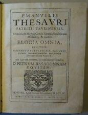 EMANUELE TESAURO: ELOGIA OMNIA 1654, seltene Schrift / Barock / Elogen / Latein