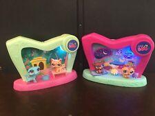 2 LPS Littlest Pet Shop 2-in-1 Pet Spotlight Sets #1583 1584 1869 1870 Light Up