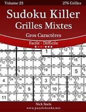 Sudoku Killer: Sudoku Killer Grilles Mixtes Gros Caractères - Facile à...