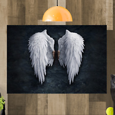 Angel Wings Banksy Framed Canvas Art Picture Print Ready To Hang