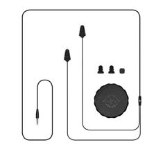 Plugfones Guardian, Earplugs with Audio, Earplug Headphones, 26 dB NRR, Black