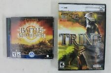 2 X PC DVD-ROM Games Lord of the Rings: The Battle for Middle-Earth & Trine