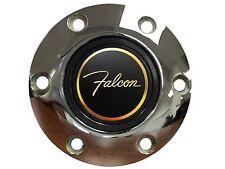 Ford Falcon 3-D Foil Emblem with a Volante S6 Chrome Horn Button
