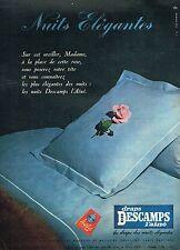 E- Publicité Advertising 1958 Les Draps Descamps