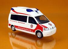 Rietze 51884 Volkswagen VW T5 Ambulanz Mobile Hornis Silver Samariterbund Graz