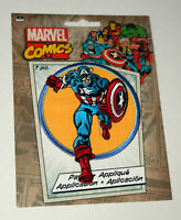Official Marvel Comics Captain America Iron-On Cloth Jacket Patch New in Package