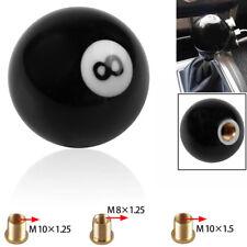 No.8 Pool Billiard Ball custom Gear Shifter Shift Knob car lever Black IN STOCK