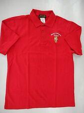 Boys Jonathan Reed Red Saint Andrews School S.S. Uniform Polo Shirt Size X Large