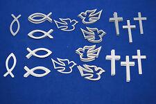 Tischdekoration Streudeko Taufe Kommunion Konfirmation Fisch Kreuz Taube Auswahl