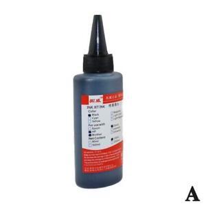 Bulk Refill Ink 100ml Bottle Pigment for Hp Epson Printers Bla/Blu/Red/Yel