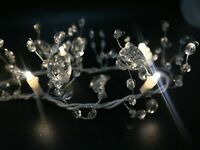 Pre-Lit Acrylic Crystal Icy Garland Centerpiece Holiday Events Home Decor