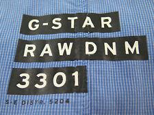G-Star Raw DNM 3301 Long Sleeve 100% Cotton Blue Micro-Checks Casual Shirt Large