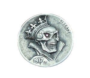 "Original Hand Engraved Hobo Nickel ""The King"" By Alex Fetisov"