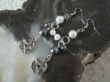 Pentacle Earrings, wiccan pagan wicca witch witchcraft pentagram goddess gothic