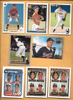 1991 Chipper Jones Rookie Topps #333 & 6 Chipper Jones RC. Atlanta Braves Cards