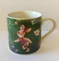 WINNIE THE POOH Green Coffee Tea Mug Cup ~ PIGLET ~ 10oz DISNEY SHIPS FREE