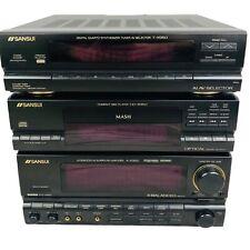 Sansui 3 Pc AV HiFi T-X950 CD-X950 A-X950 CD Amplifier Synthesizer Tuner Vintage