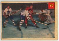 1954-55 Parkhurst Hockey #90 Alex Delvecchio HOF VG-EX Condition (2020-13)