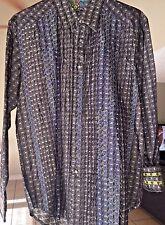 Robert Graham Long Sleeved Button Down Shirt sized Medium