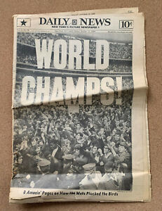 NEW YORK METS:  WORLD CHAMPS! New York Daily News October 17, 1969