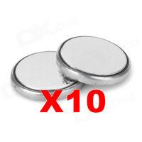 a litio 10 Batterie al bottone CR2032 3V orologi PORTACHIAVI AUTO 10 pz 10 x nps