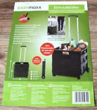 Einkaufstrolley von EASYMAXX Einkaufsroller Klappbar Trolley Einkaufswagen NEU *