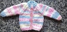 "DOLLS CLOTHES Hand Knitted for 12-14"" 32-36 cm Cardigan donc for Premature Baby"