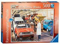 Ravensburger Jigsaw Puzzle THE FACTORY WORKER Nostalgic Scene - 500 Piece