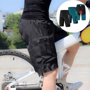 Herren Fahrradhose Kurz mit 3D Gel Gepolsterte  Loose-Fit MTB Hose Atmungsaktiv