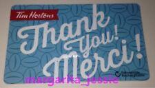 "TIM HORTONS CANADA 2016 GIFT CARD BLUE ""THANK YOU/MERCI"" FD51887 NO VALUE #6126"