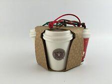 STARBUCKS Coffee 2011 TO GO HOLIDAY ORNAMENT SET NEW
