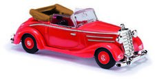 Busch 40510 ESCALA H0 MERCEDES 170s Convertible abierta, rojo nuevo emb. orig.