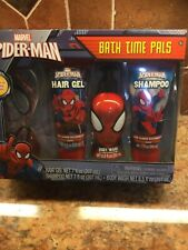 Marvel Spider-Man Bath Time Pals Gift Set gel shampoo body wash NEW