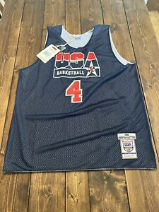 Authentic Christian Laettner Mitchell & Ness USA Reversible Jersey Size XL