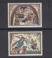 ESPAÑA (1972) SERIE COMPLETA EDIFIL 2115/16 NUEVOS SIN FIJASELLOS MNH NAVIDAD