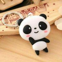 Keychain Bag Cartoon Panda Keyring Kawaii Chain Cute Pendant Key Ring Silicone