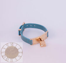 Michael Kors Gold Tone Turquoise Leather Bracelet MKJ3309, New