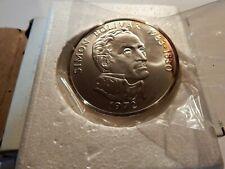 1972 Panama Vasco Nunez de Balboa 20 Balboas Coin Sterling Silver Uncirculated