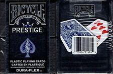 Prestige Plastic Blue Deck Bicycle Playing Cards Poker Size USPCC New Dura-Flex