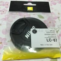 Genuine Nikon LC-67 67mm Snap on Front Lens Cap Dust Cover Protector JAPAN