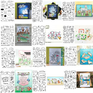 Animals Mixed Transparent Clear Silicone Stamp/Seal Scrapbooking/photo Cards