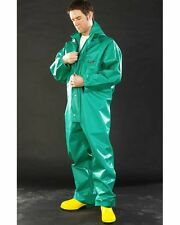 """Alpha Solway Green Chemical Coverall Hood CPBH-EA-O Size XL 45"""" to 48"""" Chest"""