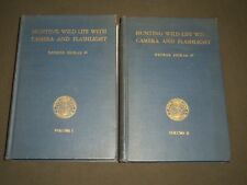 1935 HUNTING WILD LIFE WITH CAMERA AND FLASH LIGHT SET OF 2 VOLUMES - KD 4244
