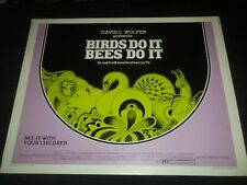 1974 BIRDS DO IT BEES DO IT 1/2 SHEET MOVIE POSTER - P 324