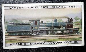 Rosario Railway  Argentina  Steam Locomotive  Original Vintage Card