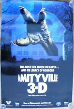 "AMITYVILLE 3-D ROLLED VIDEO POSTER FROM 1984 - COOL HORROR POSTER 24"" x 36"""